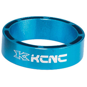"KCNC Hollow Design Spacer t. styrfitting 1 1/8"" 3/5/10/14/20mm, blue"